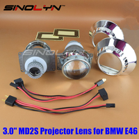 For BMW 3 Series E46 ZKW OEM MD2S HID Bi Xenon Projector Lens Retroquick Kit Headlight