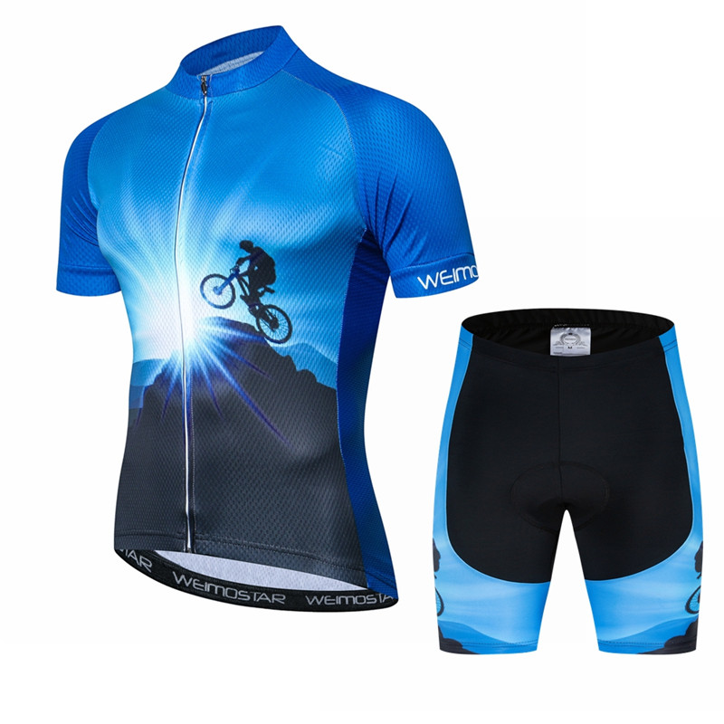 Weimostar 2019 Pro Cycling Clothing Man Mountain Bike Clothing Short Sleeve Cycling Jersey Set Men Anti-UV Bicycle Wear Clothes