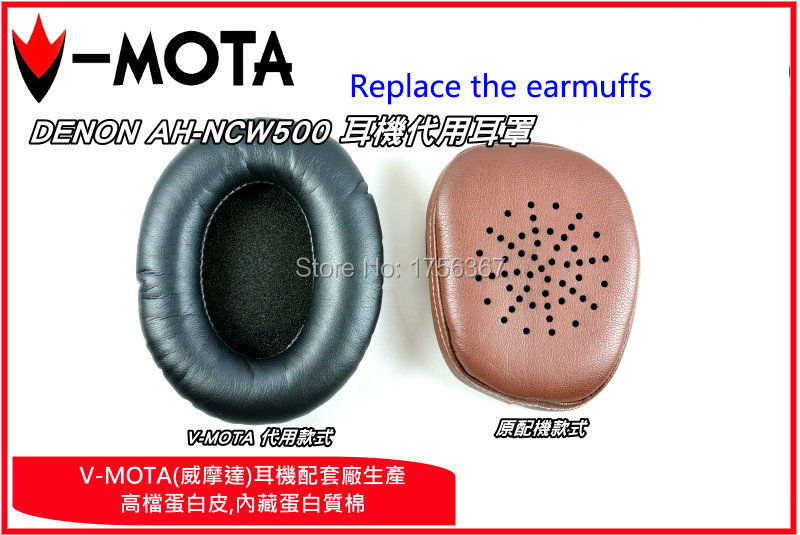 Ear pads replacement cover for DENON AH NCW500 WIRELESS NOISE AH MM400 headphones earmuffes headset cushion in Earphone Accessories from Consumer Electronics