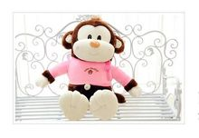 cute small plush monkey toy lovely monkey toy in pink coat doll gift about 45cm