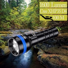 XTAR D06 1600 diving flashlight CREE XHP35 D4 max 1600 lumen beam distance 430meter Magnetic switch torch 100 meter diving depth super torch search flash light imalent dx80 8 creexhp70 max 32000 lumen beam built in most powerful flashlight 806 meter