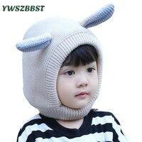 겨울 아기 모자 후드 스카프