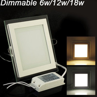 5pcs Dimmable Led Panel Light LED Ceiling Recessed Light AC85 265V LED Downlight SMD 5730 6W12W