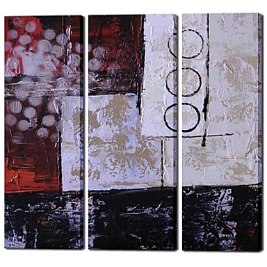 3 Panel Hand painted Modern Abstract Oil Paintings on Canvas Artwork Home Decor Wall Cuadros Pictures for Living Room