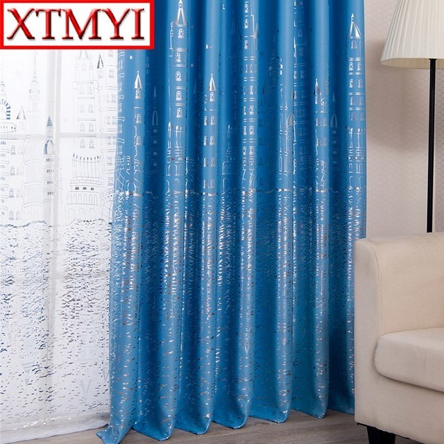 cute living room curtains fireplace tv blackout for children boys girls window drapes
