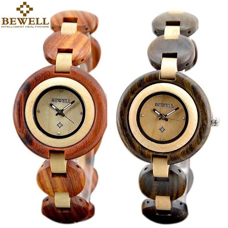 все цены на wood watch unisex natural red wooden Romantic lover watches analogue quartz wristwatches 2PCS bewell