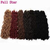 Pleine Étoile 5 pack Faux Locs Bouclés 20 pouce 24 Racines noir Bug Synthétique Cheveux 100g crotchet Tressage extension de cheveux Crochet Tresses
