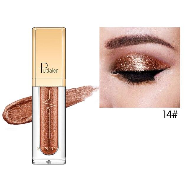 18 Colors Shine Smoky Eyeshadow Waterproof Dimond Glitter Liquid 3