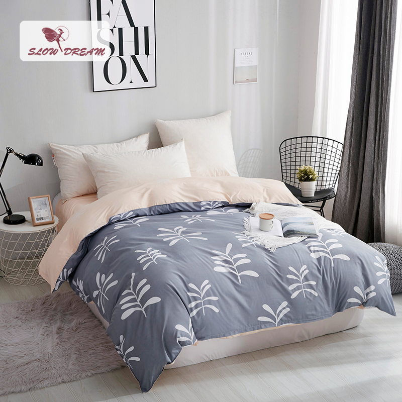 SlowDream Nordic Bedding Set Duvet Cover Bed Linen Set Of Double Bed Quilt Cover Home Bedding Bed Sheet 150/180 Bedspread Linens