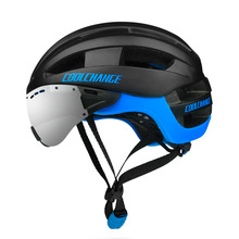 Brand Integrated Men Women Cycling Helmet with Goggles Glasses Road Mountain Bike Bicycle Helmet MTB Downhill Cycling Equipment cycling goggles helmet bicycle equipment men s road mountain bike safety helmet bicycle glasses one piece molding
