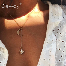 New Fashion Boho Jewelry Crystal Moon Star Choker Multilayer Necklace for Women Vintage Fashion Pendant Vintage Collier Necklace