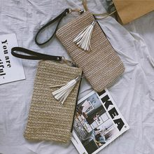 New Summer Bohemian Handbag Hollow Straw Beach Bag Casual Tassel Clutch Bag(China)