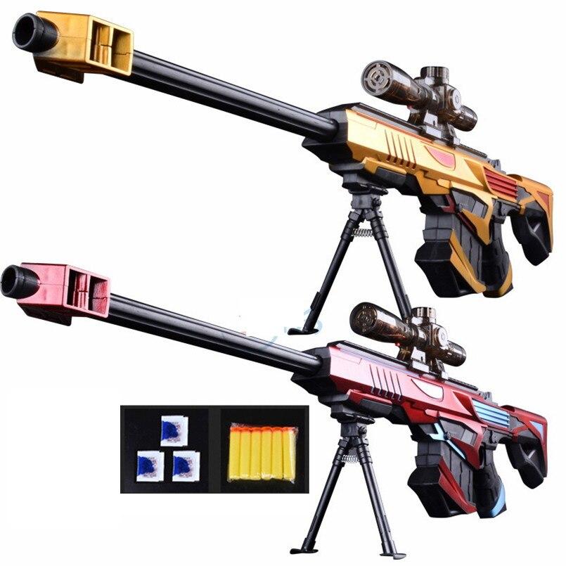 Pistolet à eau infrarouge en plastique jouet pour enfants garçons Sniper fusil pistolet doux Paintball jouets de plein air tir pistolet enfants cadeaux