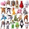 Cartoon Children Kids Animal Costume Cosplay Clothing Dinosaur Tiger Elephant Halloween Animals Costumes Jumpsuit For Boy