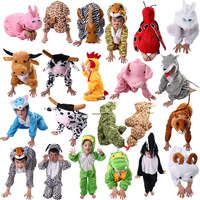 Cartoon Children Kids Animal Costume Cosplay Clothing Dinosaur Tiger Elephant Halloween Animals Costumes Jumpsuit For Boy