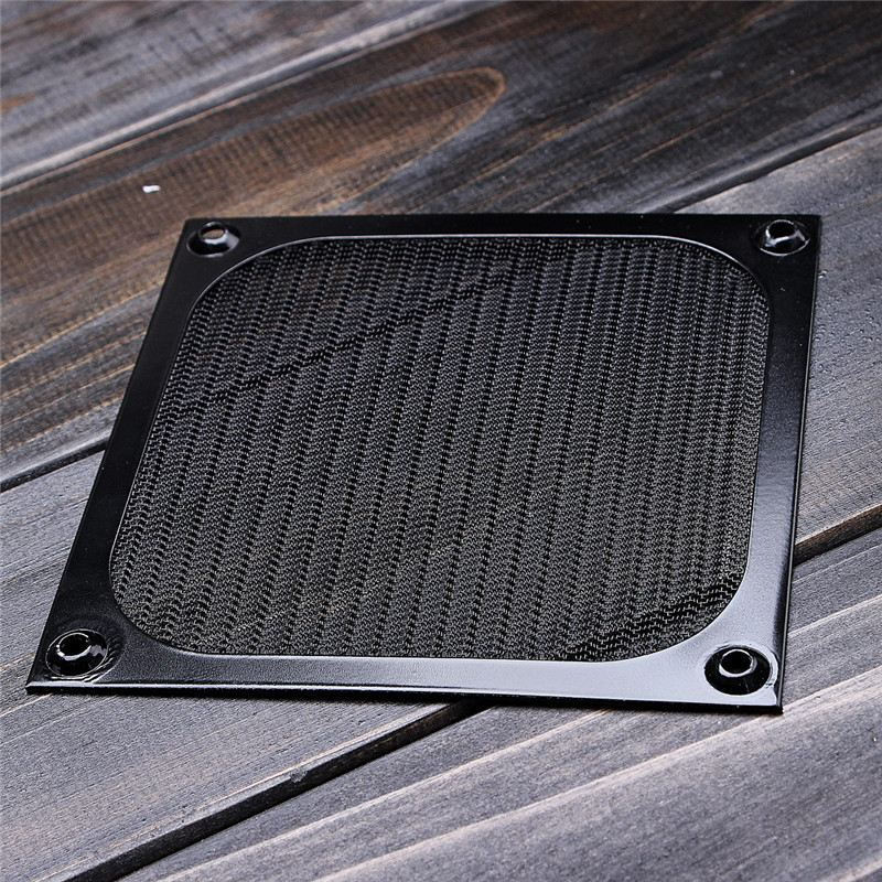Aluminum 120mm Computer Fan Cooling Dustproof Dust Filter Shield Case Aluminum Grill Guard 3pcs gdstime 200mm chrome metal computer pc fan grill mounting finger guard protection