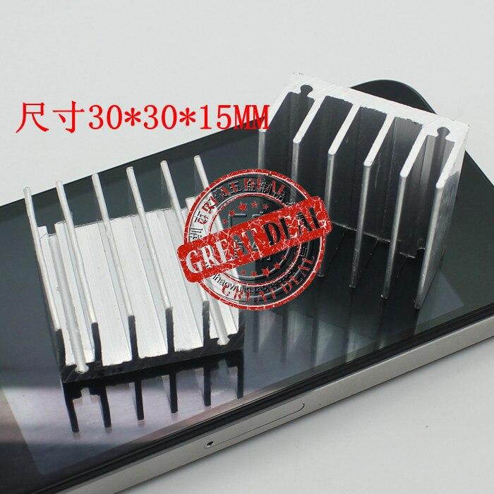 Free Ship 100PCS Custom High Quality Aluminum Heatsink 30*30*15MM Chipset Heatsink