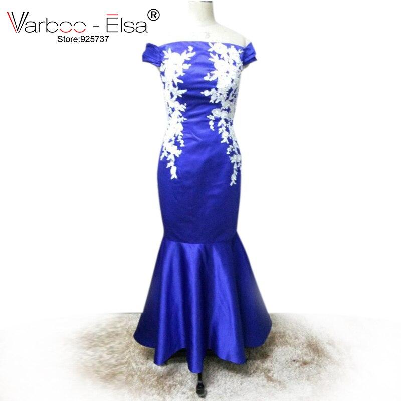 Varboo Elsa Robe De Soiree Blue Mermaid Prom Dress Tight