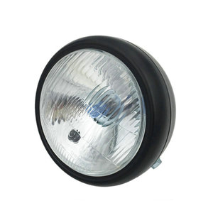 Image 3 - Chrome Black Cafe Race Front Head light Decorative Light Modified Motorbike Light Headlight Motorcycle Vintage
