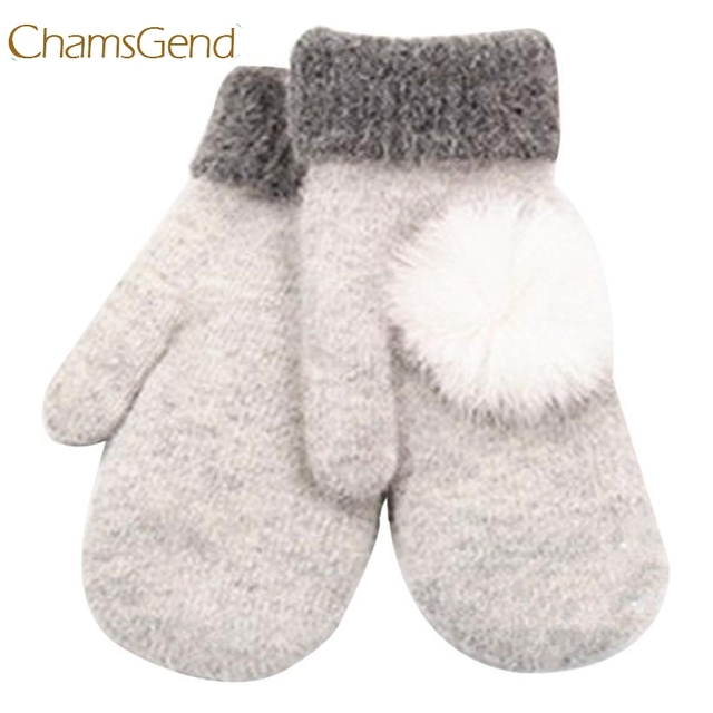 Chamsgend Newly Design Women's Cute Winter Warm Wool Gloves Mittens Aug19 Chamsgend