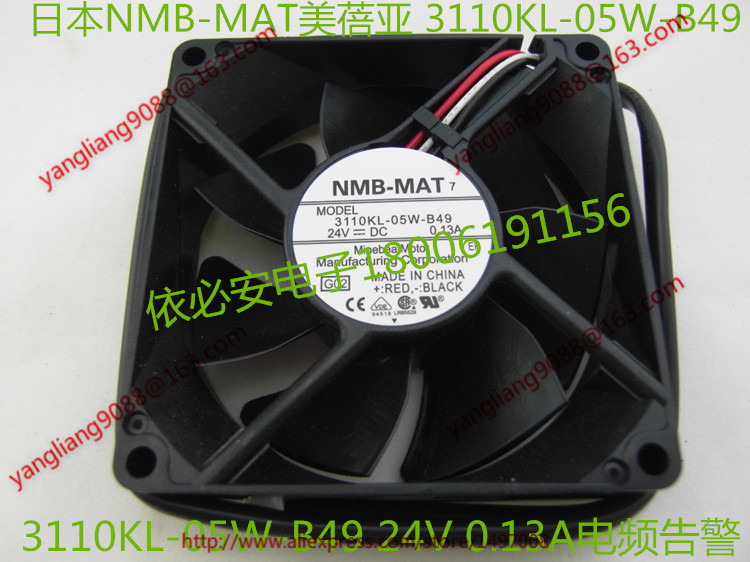 NMB-MAT 3110KL-05W-B49, G02 DC 24V 0.13A, 80x80x25mm    Server  Square fan nmb mat 3110kl 04w b49 b02 b01 dc 12v 0 26a 3 wire server square fan