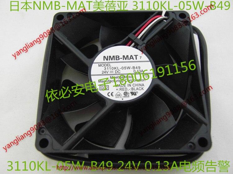 Free Shipping For  NMB 3110KL-05W-B49, G02 DC 24V 0.13A, 80x80x25mm 3-wire 80mm  Server Cooling Square fan original nmb 8025 8cm 80mm 3110kl 04w b79 for cisco 2851 2821 switch dc 12v 0 38a server inverter cooling fan