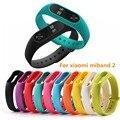 Colorida pulseira para xiaomi miband mi banda 2 cinta 2 cinto pulseira smartband substituição pulseira de silicone pulso cintas