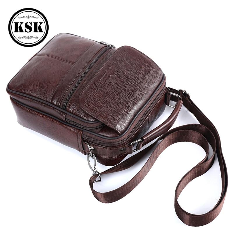 Image 3 - Men Bag Messenger Bag Genuine Leather Bag Shoulder Handbag Luxury Handbags Flap Crossbody Bags For Men 2019 Fashion KSKCrossbody Bags   -