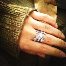 New 2017 Slavic Ring Helm of Awe Aegishjalmur Viking Ring Scandinavian Norse Jewelry Men leaves Ring Free shipping