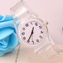 Cindiry High Quality Women's Candy Jelly Transparent Color Faux Leather Quartz Analog Dress Wrist Watch P20 mint green color jelly quartz watch silicone