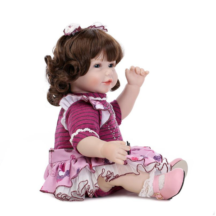 Real Looking Girls Dolls Princess Doll Toys for Children's New Year Gift,19 Lifelike Baby with Clothes 18 sd bjd doll princess doll with clothes 45 cm lifelike girls doll toys for children s new year gift free shipping
