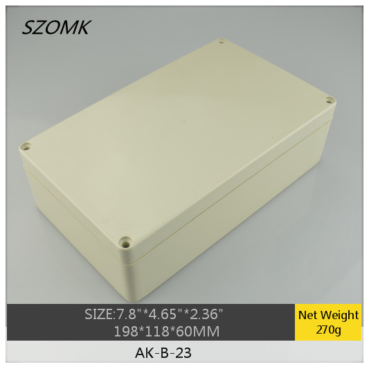 1 piece, electronics waterproof enclosure 198*118*60mm IP65 IP65 plastic electrical enclosures, IP68 enclosure box