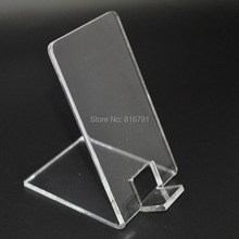10pcs Clear Acrylic Cell Phone Stands Mobile Phone Display Stands for iphone/Samsung/Huawei or any phone retail  support