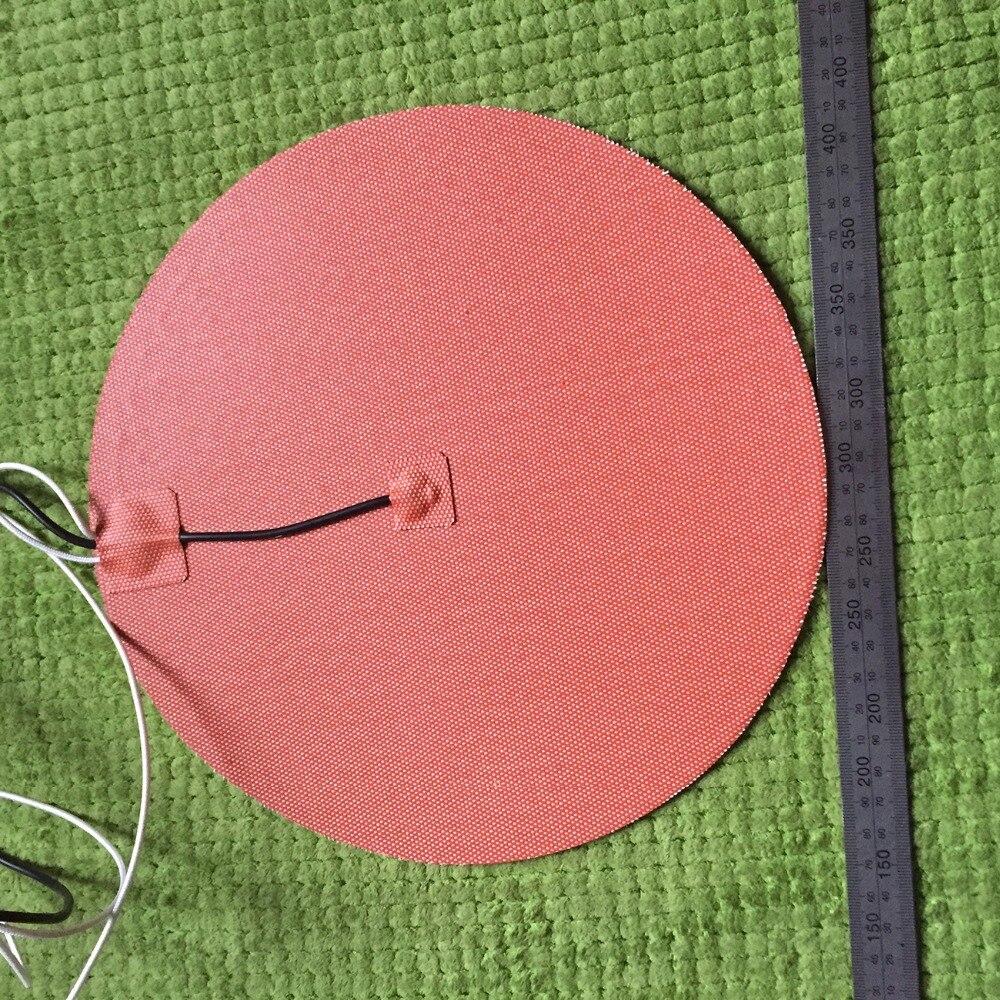 Gomma di silicone 3d stampante riscaldatore 220 v 400 w diametro 290MM 3m adhesive 100 k termistore piombo filo heater plate 400 w 240v 245 245mm 3m adhesive piombo filo di silicone flessibile gomma 3d stampante riscaldatore silicone heater element heat