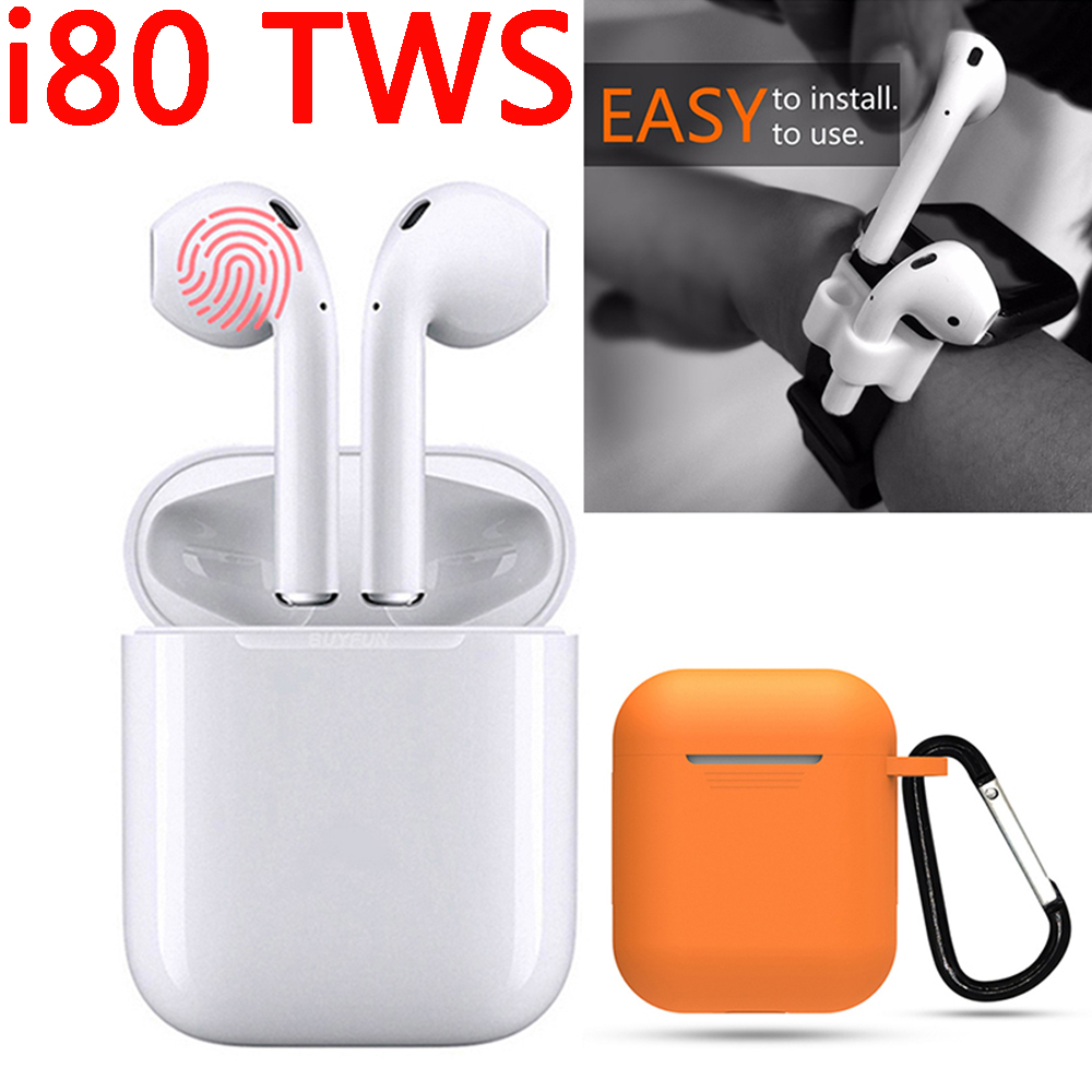 New Pods i80 tws wireless Bluetooth Earphone Earbuds Bluetooth 5.0 touch headset game pk i30 i40 i50 i60 i70 i80 i90 i100 i200