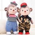 1 PCS 35 CM Metoo Boneca Macaco kawaii Crianças brinquedos Animal de Pelúcia Presente de Aniversário Criativo 7 Estilo para escolher A11