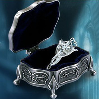 The Lord Of The Ring Arwen Evenstar 925 Silver Necklace Pendant Metal Jewelry Box One Set