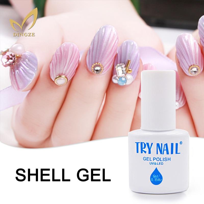 Shell Style Pearl Gel Varnish Shell Color font b Nail b font Art Salon UV font