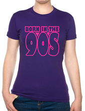 цена на Born In The 90's Nineties Birthday Funny Ladies T Shirt Size S-XXL Free shipping Harajuku Tops t shirt Fashion Classic Unique