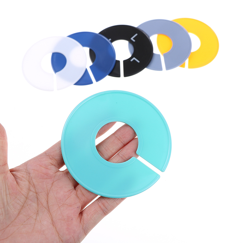 35mm Arts,crafts & Sewing 5pcs Plastic Dividers Clothing Rack Round Ring Size Dividers Fits Round Or Square Tube Garment Tags Size Marking Ring Home & Garden