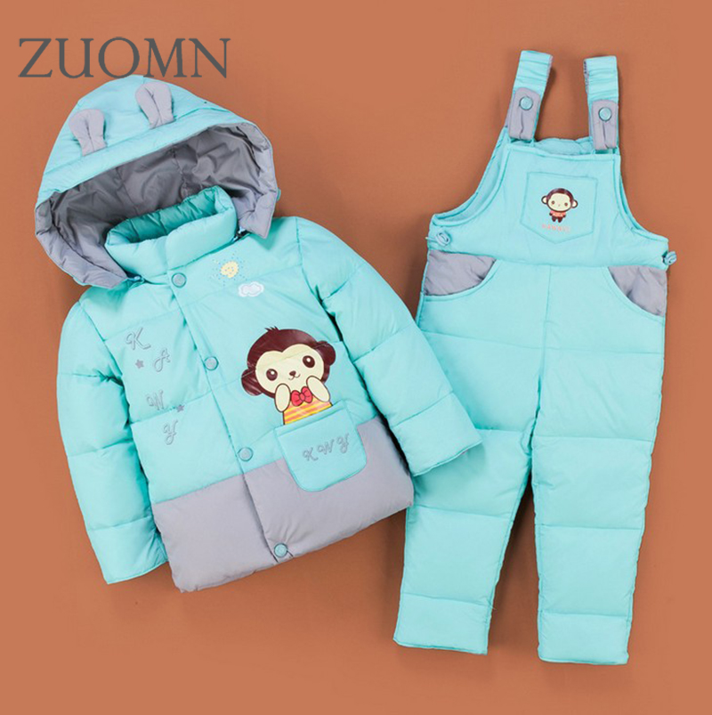 Winter Kids Snowsuit baby infant boys winter snow wear hooded girls outwear down jacket thermal Suits children 2pcs suit YL347 kids ski suits snow suits for girls children boys snowsuit down cotton jacket winter overalls child winter thicken clothing
