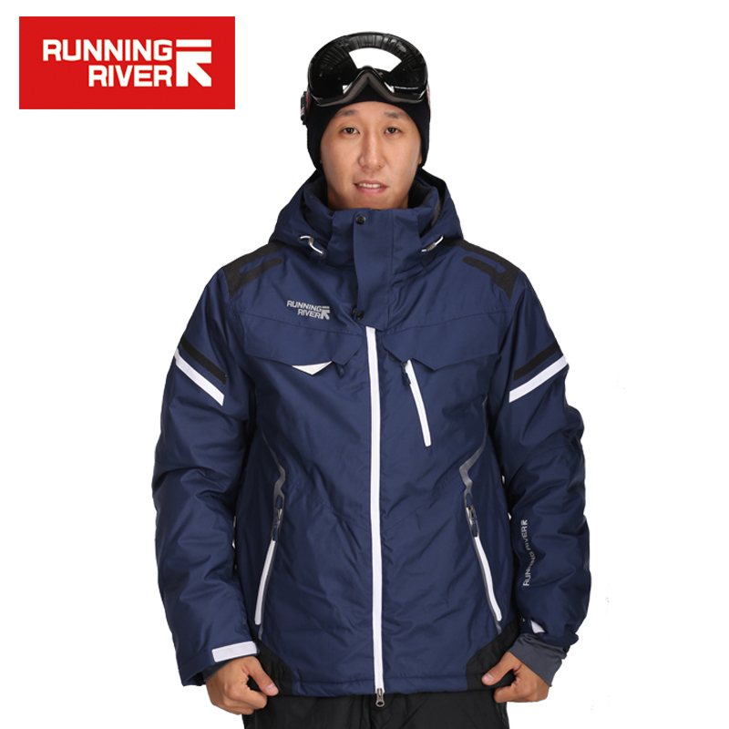RUNNING RIVER Brand Men Ski Jackets Waterproof Windproof  S-3XL Winter Outdoor Ski Coat Men Gsou Snow Winter Jacket Ski #J3160