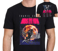Travis Scott Birds Eye View Tour 2017 T Shirt Men Two Sides Casual 100 Cotton Tee