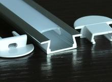 40ks / lot Doprava zdarma vestavěný hliníkový profil pro vodicí - LED Osvětlení