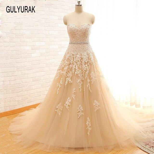 Vestidos De Novia 2017 Turkey Organza A Line Country Western Wedding ...