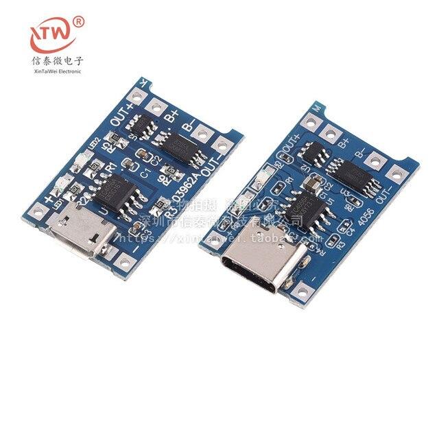 Type-c/Micro USB 5 V 1A 18650 TP4056 Lithium Batterij Oplader Module Opladen Board Met Bescherming Dual functies 1A Li-Ion
