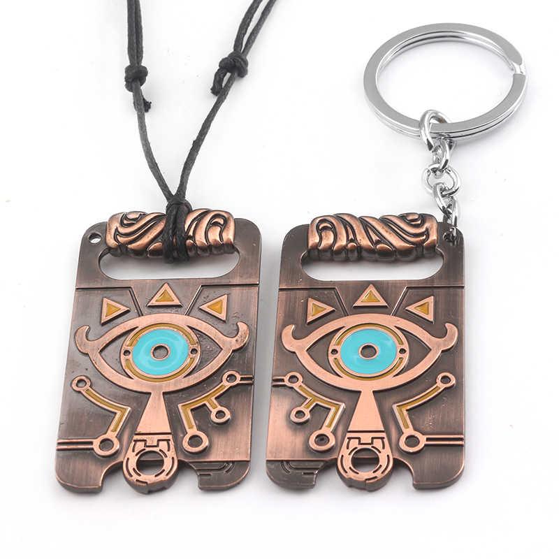 3 Style moda biżuteria yu-gi-oh! Legenda Zelda oddech dzikości emalia urok regulowany naszyjnik wisiorek breloczek