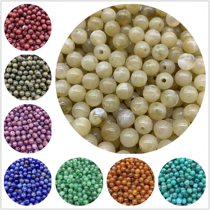 6mm 8mm 10mm Acrylic Spacer Beads Charms Clouds Beads Round Loose For Jewelry Making
