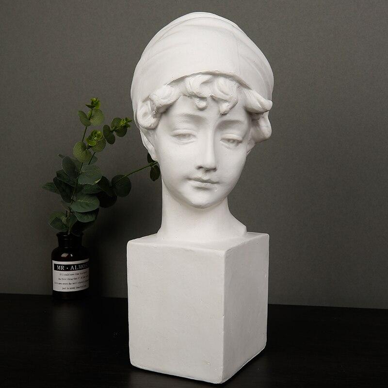 Creative Britannique Fille De Gypse Portrait Croquis sculpture décorative Modèle Européen Statue décoration d'intérieur décorations artisanales Cadeaux
