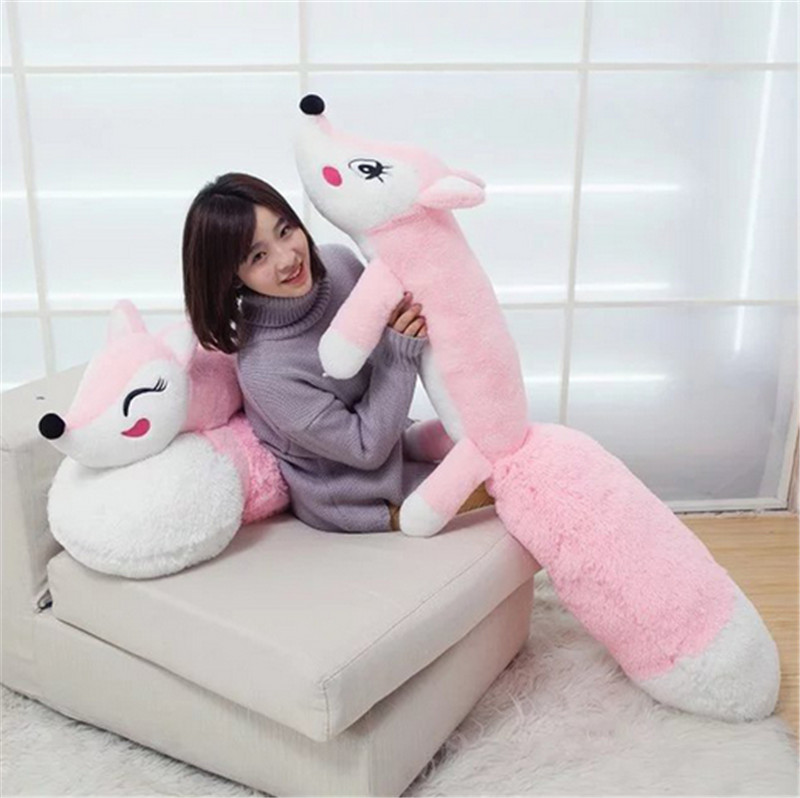 fancytrader one piece anime fox plush toy giant stuffed cartoon fox doll with long tail pink 63inch 160cm gift for children the huge lovely hippo toy plush doll cartoon hippo doll gift toy about 160cm pink